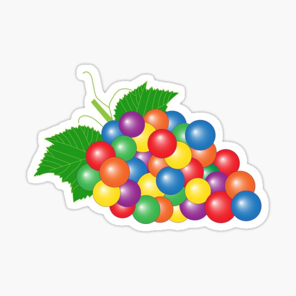 Gay-pes > Gay Grapes | Queer Fruit Collection Sticker