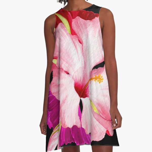 Flower Power – Tropical Style A-Line Dress