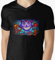 Cheshire Kitty Mens V-Neck T-Shirt