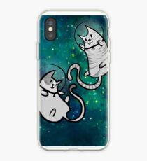 Vinilo o funda para iPhone en el espacio meowter