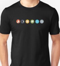 Gloomhaven Element Symbols Board Game Graphic - Tabletop Gaming Slim Fit T-Shirt