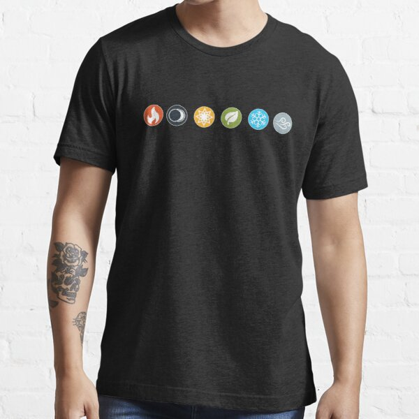 Gloomhaven Element Symbols Board Game Graphic - Tabletop Gaming Essential T-Shirt