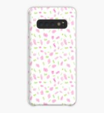 Pink and Green Scribbles Case/Skin for Samsung Galaxy