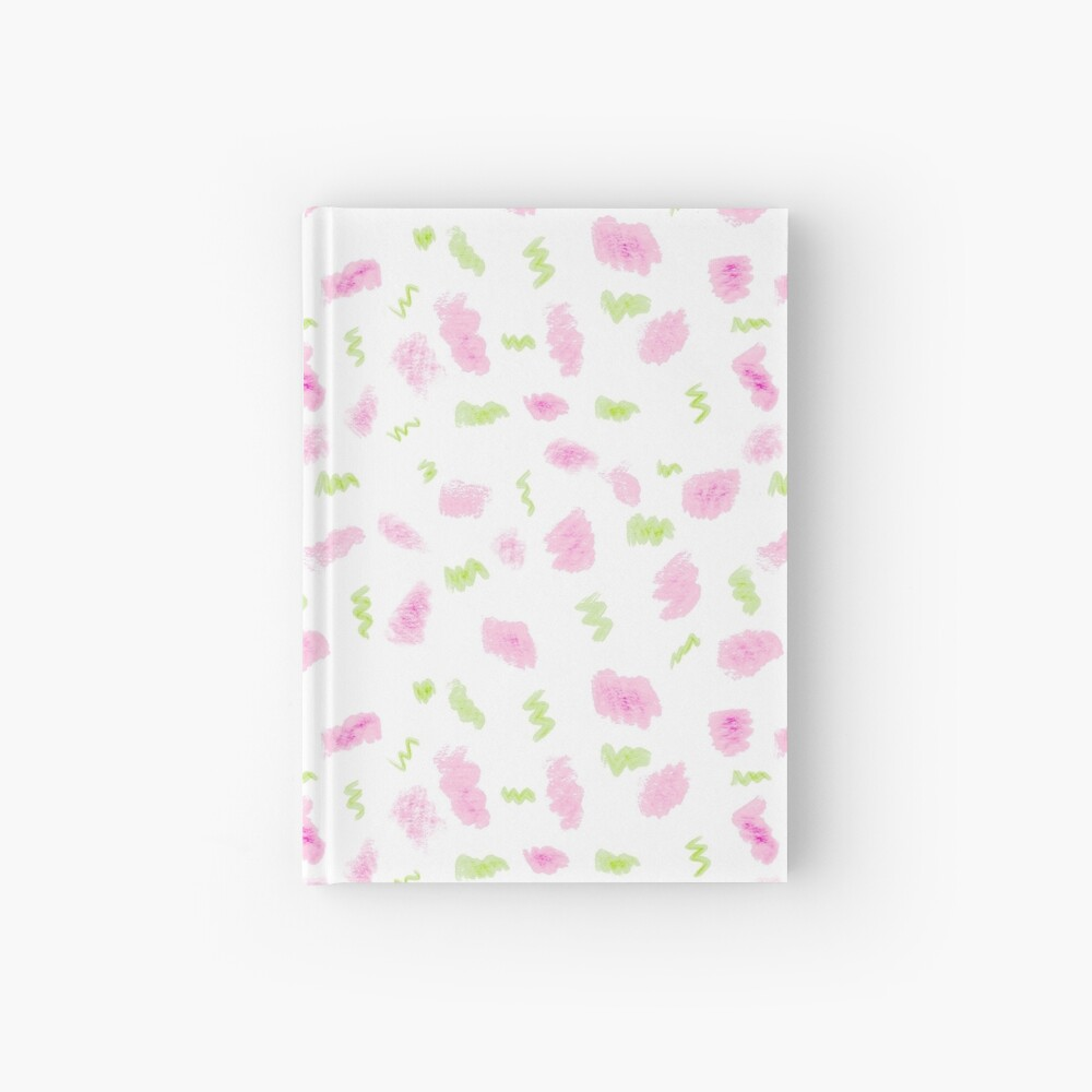 Pink and Green Scribbles Hardcover Journal