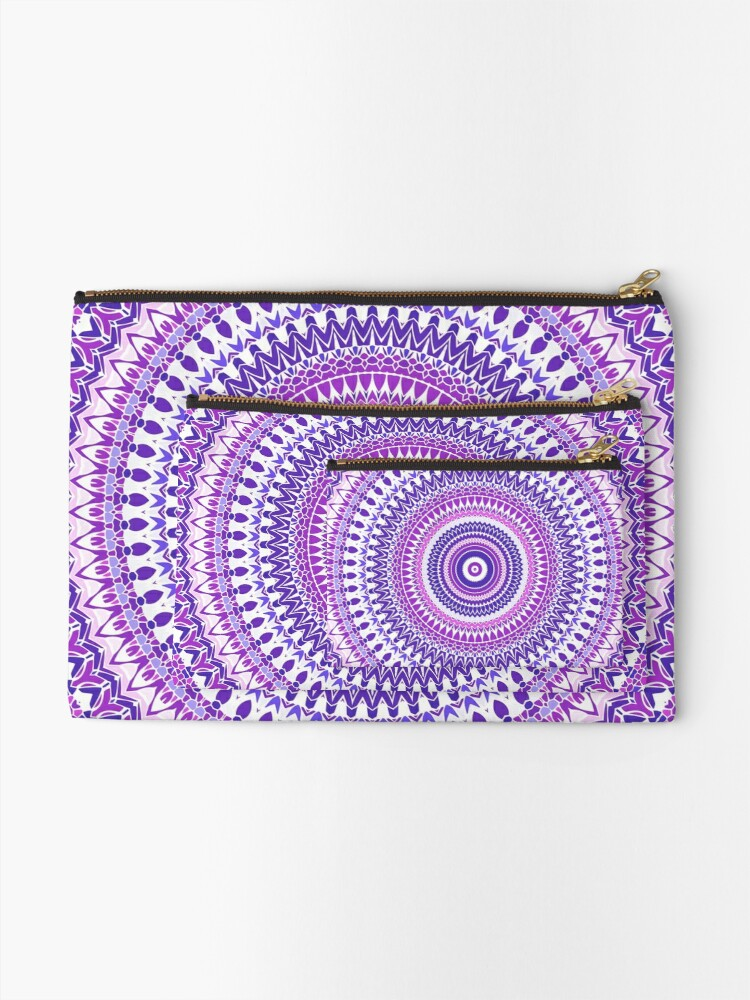 Alternate view of Purple Forever Mandala Zipper Pouch