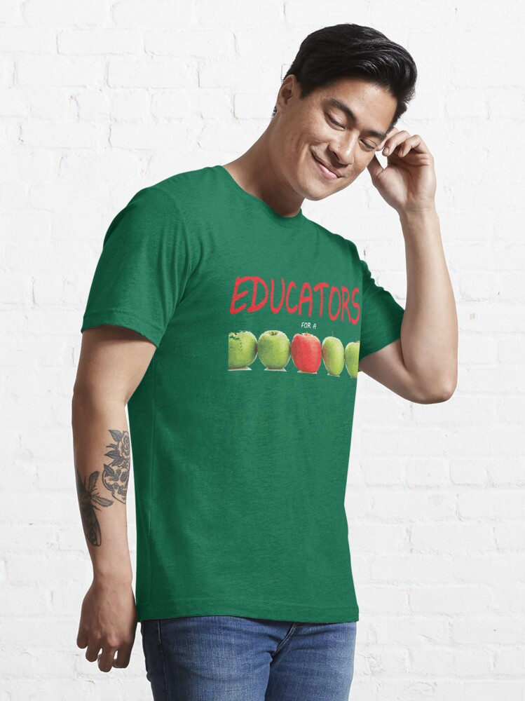 Alternate view of Educators for a Green New Deal Essential T-Shirt