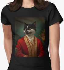 The Hermitage Court Waiter Cat Women's Fitted T-Shirt