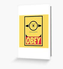 Obeyable Me - Banana Edition Greeting Card