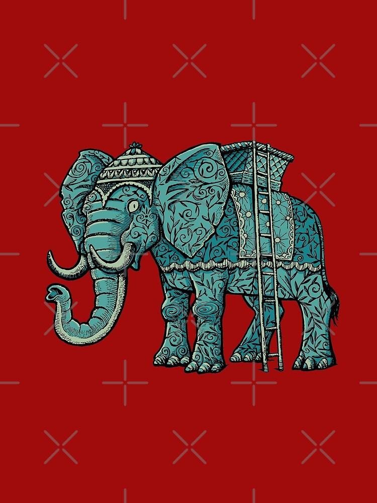 decorated elephant by duxpavlic