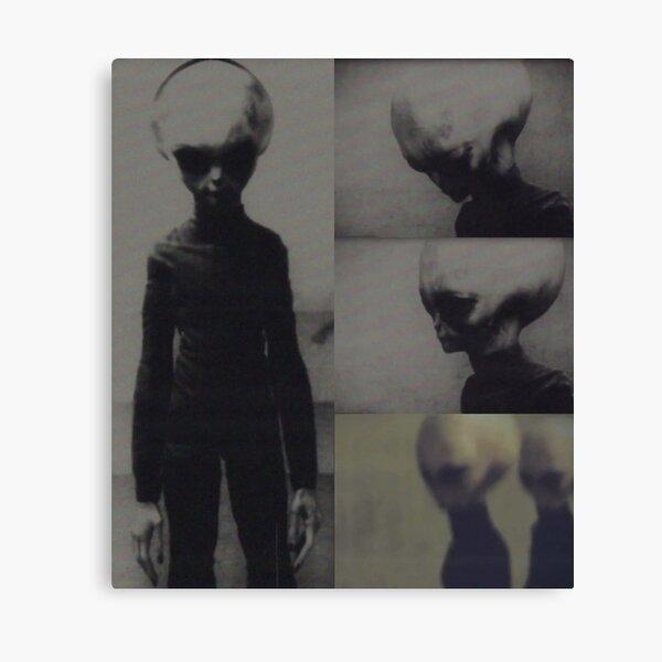 Skinny Bob - real grey alien from Zeta Reticuli Canvas Print
