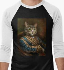 The Hermitage Court Outrunner Cat  Men's Baseball ¾ T-Shirt
