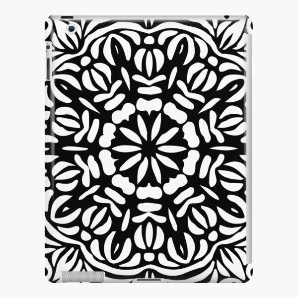 Black & White Abstract Floral Frill Mandala iPad Snap Case