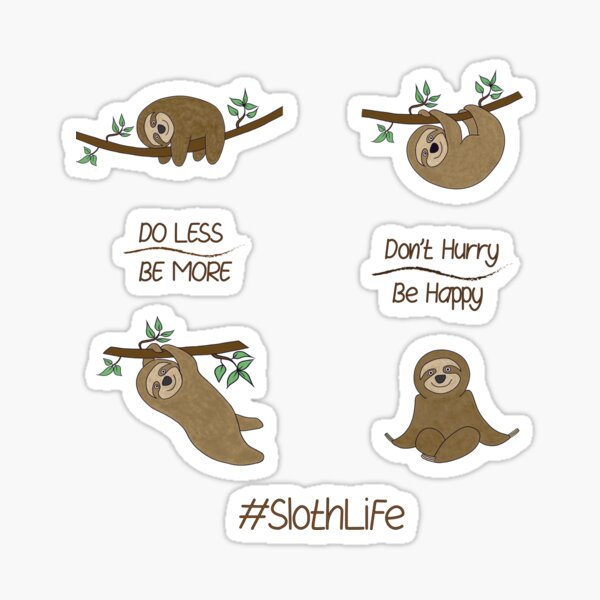 Simon the Sloth Sticker Pack Sticker