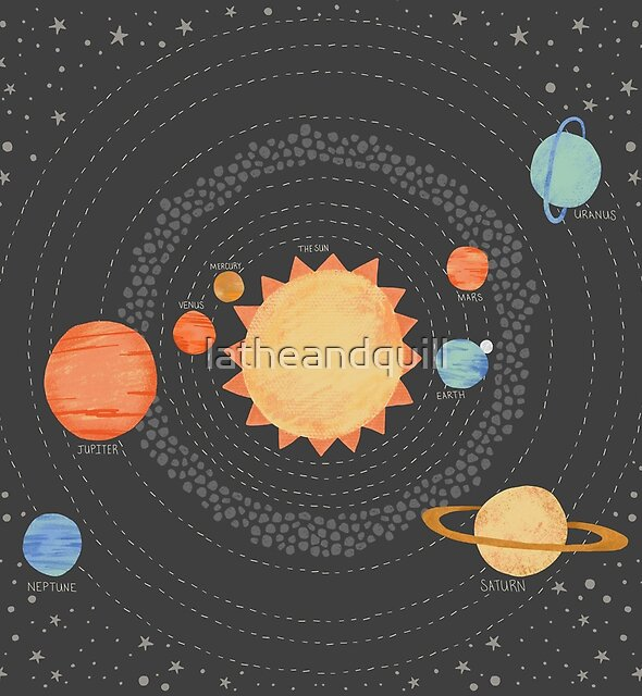 Our Solar System by latheandquill