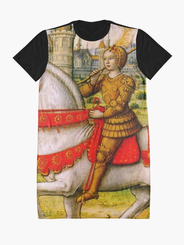Alternative Ansicht von Jeanne d'Arc zu Pferd T-Shirt Kleid