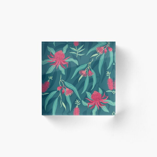 Australian Flora Acrylic Block