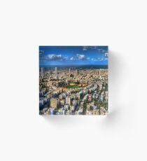 Tel Aviv center Acrylic Block
