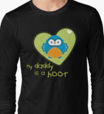OWL SERIES :: heart - daddy is a hoot 3 Long Sleeve T-Shirt