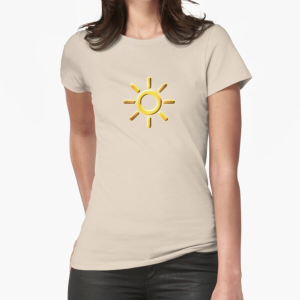 Exalted Solar Caste: Dawn Fitted T-Shirt