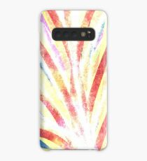 The Fountain - Striped Abstract Drawn Digital Art  Case/Skin for Samsung Galaxy