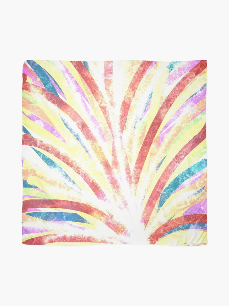Alternate view of The Fountain - Striped Abstract Drawn Digital Art  Scarf