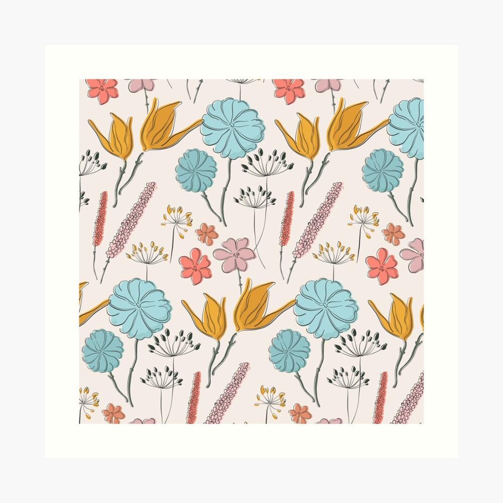 Summer flower print Art Print