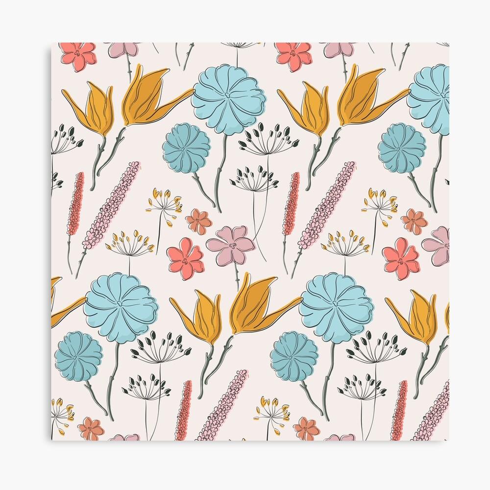 Summer flower print Canvas Print