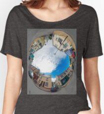 Kilcar Crossroads - Sky in Women's Relaxed Fit T-Shirt