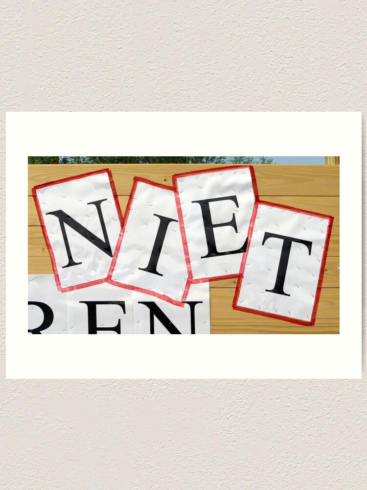 Alternate view of NIETjes Art Print