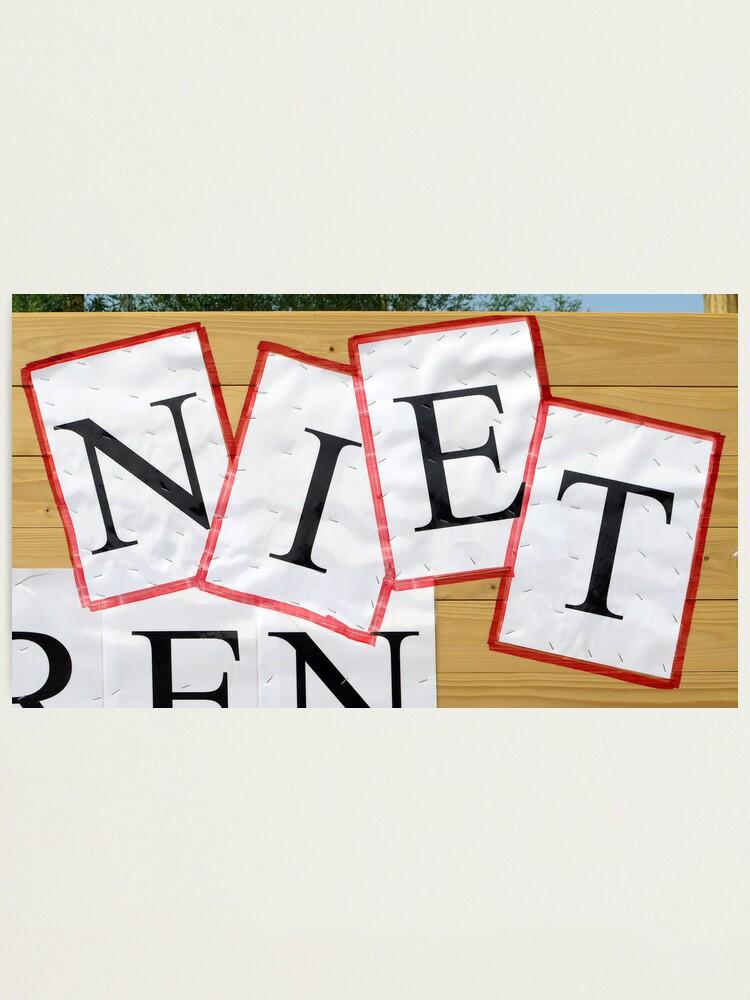 Alternate view of NIETjes Photographic Print