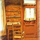 Log Cabin Desk, Chair And Door by KirtTisdale