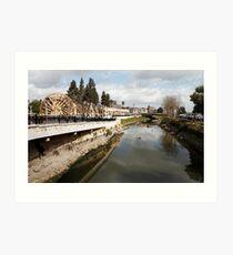 Orontes river in Hama, Syria.  Art Print