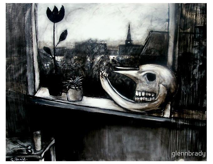 still life..with moose skull by glennbrady