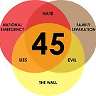 Trump 45 Lies Hate Evil Venn Diagram by EthosWear