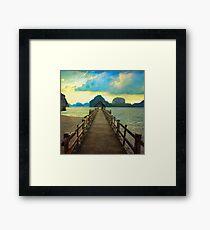 Thailand Dock Framed Print
