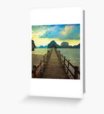 Thailand Dock Greeting Card