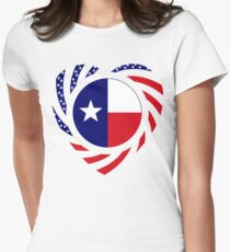 Texan American Murican Patriot Flag Series 2.0 Women's Fitted T-Shirt