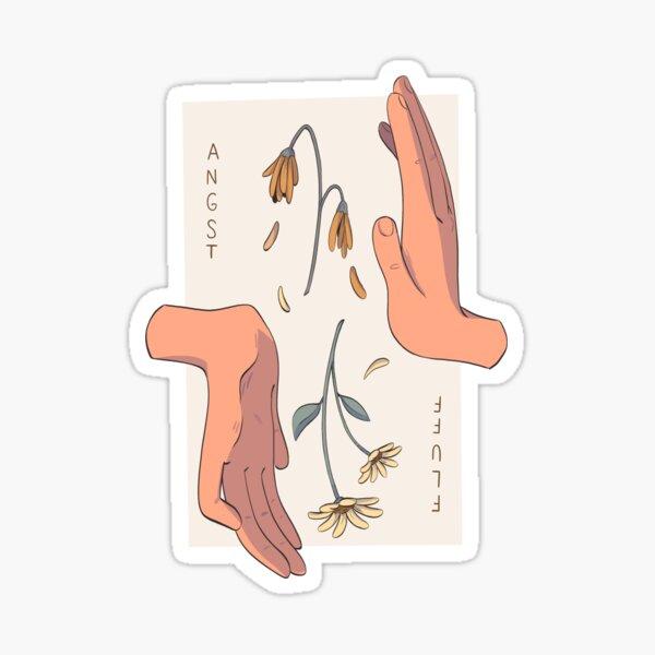 angst/fluff - tropes series Sticker