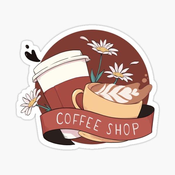 coffee shop au - tropes series Sticker