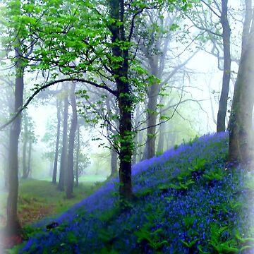 Misty Blue Hillfort by Sita