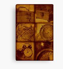 Travel vintage collage Canvas Print
