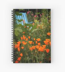 California Poppies In The Garden Spiral Notebook