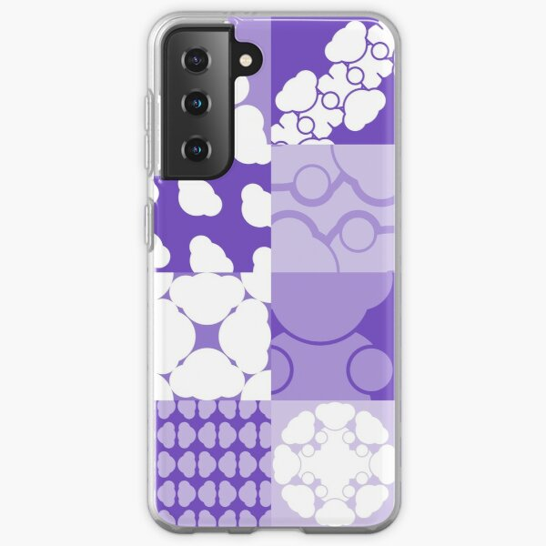 TILES [ purple & white ] Samsung Galaxy Soft Case