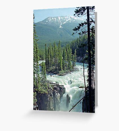 Sunwapta Falls, Jasper National Park, Alberta, Canada Greeting Card