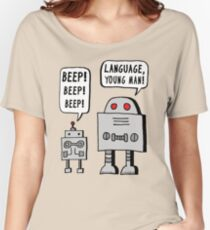 Beeping Robot Women's Relaxed Fit T-Shirt