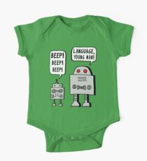 Beeping Robot One Piece - Short Sleeve