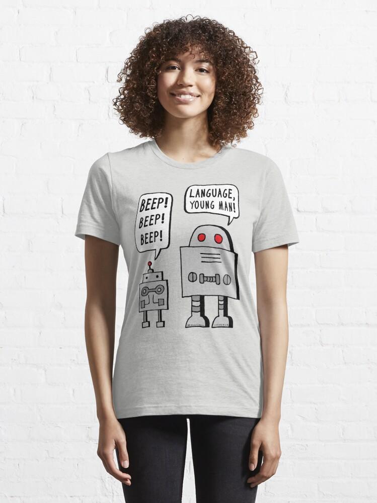 Alternate view of Beeping Robot Essential T-Shirt
