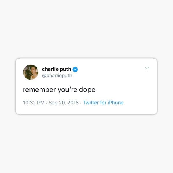 charlie puth tweet Sticker