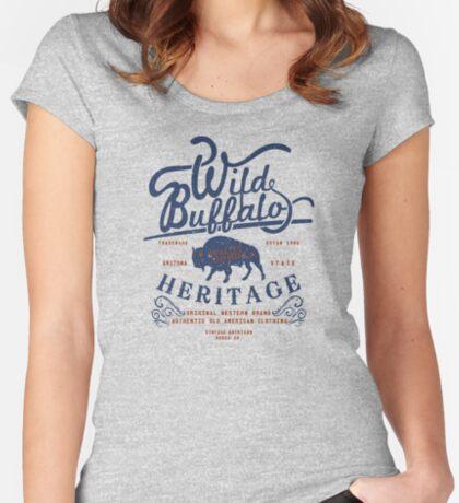 Wild Buffalo Arizona State Retro Label Fitted Scoop T-Shirt