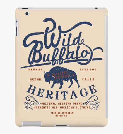 Wild Buffalo Arizona State Retro Label iPad Case/Skin
